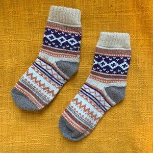 Vintage French ski pattern socks